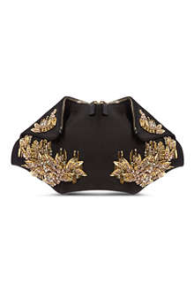 ALEXANDER MCQUEEN De Manta jewelled clutch