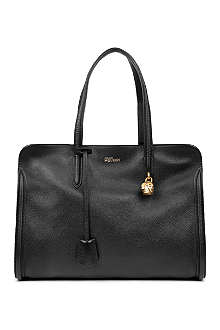 ALEXANDER MCQUEEN New padlock grainy leather tote
