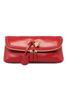 ALEXANDER MCQUEEN New Padlock leather clutch