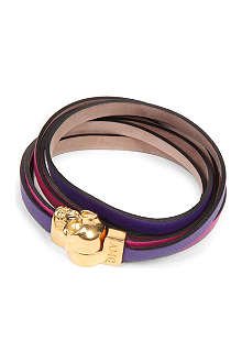 ALEXANDER MCQUEEN Double wrap leather bracelet