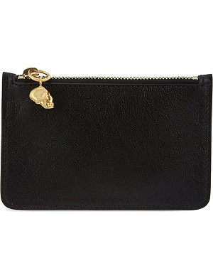 ALEXANDER MCQUEEN Skull leather key pouch