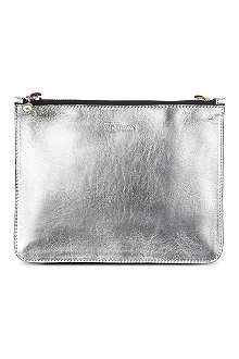 ALEXANDER MCQUEEN Double zip leather pouch