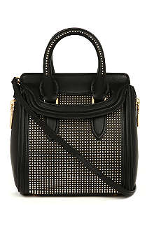 ALEXANDER MCQUEEN Heroine mini gold-stud leather tote