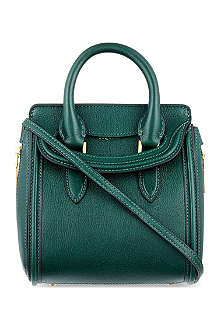 ALEXANDER MCQUEEN Heroine mini grained leather tote