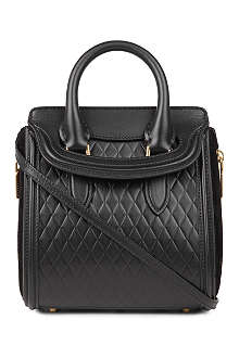 ALEXANDER MCQUEEN Heroine mini quilted leather cross-body bag
