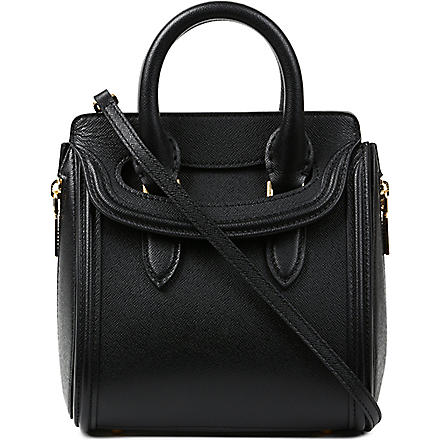 ALEXANDER MCQUEEN Heroine mini grain tote bag (Black