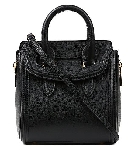 ALEXANDER MCQUEEN Heroine mini grain tote bag (Black