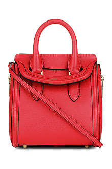 ALEXANDER MCQUEEN Heroine mini grained leather tote bag