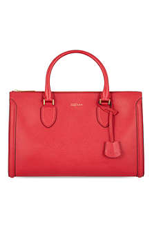ALEXANDER MCQUEEN Heroine zip-up leather tote