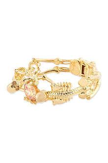 ALEXANDER MCQUEEN Gold skeleton bracelet