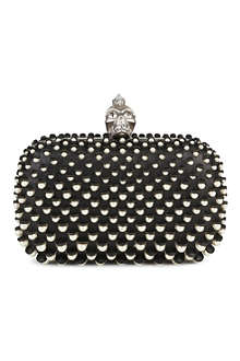 ALEXANDER MCQUEEN Punk Skull leather clutch