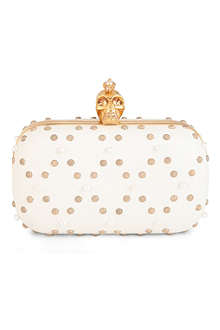ALEXANDER MCQUEEN Punk Skull pearl leather box clutch