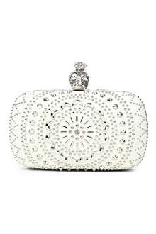 ALEXANDER MCQUEEN Punkskull studded leather clutch