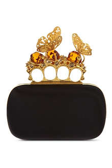 ALEXANDER MCQUEEN Butterfly knuckle clutch