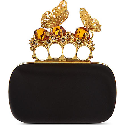 ALEXANDER MCQUEEN Butterfly knuckle clutch (Black