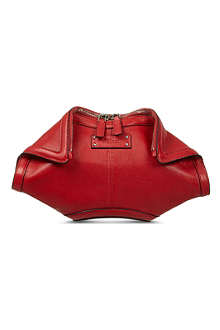 ALEXANDER MCQUEEN De Manta small leather clutch