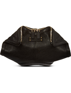 ALEXANDER MCQUEEN Manta leather clutch