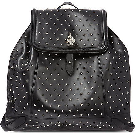 ALEXANDER MCQUEEN Studded leather backpack (Black