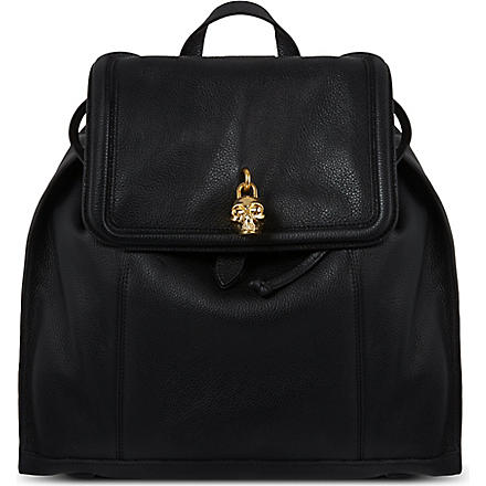 ALEXANDER MCQUEEN Skull padlock backpack (Black