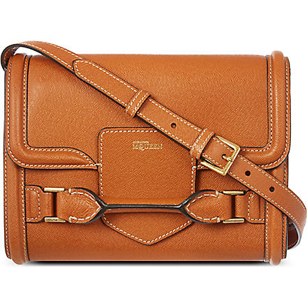 ALEXANDER MCQUEEN Heroine cross-body bag (Tan