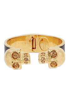 ALEXANDER MCQUEEN Skull leather cuff