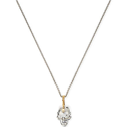 ALEXANDER MCQUEEN Skull Punk pendant necklace (Gold