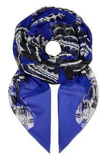 ALEXANDER MCQUEEN Feather chiffon scarf