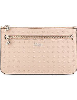 ALEXANDER MCQUEEN Double-zip leather stud pouch