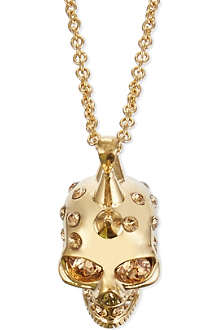 ALEXANDER MCQUEEN Small punk skull pendant necklace