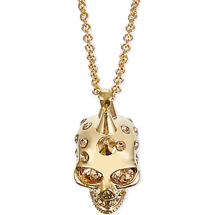 ALEXANDER MCQUEEN Small punk skull pendant necklace (Gold