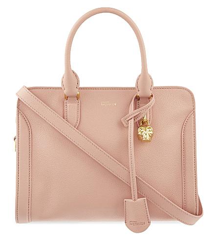 ALEXANDER MCQUEEN Padlock leather cross-body bag (Pink