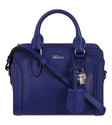 ALEXANDER MCQUEEN Padlock mini cross-body bag (Ultramarine