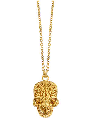 ALEXANDER MCQUEEN Skull filigree necklace
