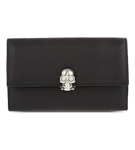 ALEXANDER MCQUEEN Leather skull wallet (Black