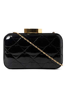 LULU GUINNESS Fifi quilted lips clutch