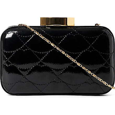 LULU GUINNESS Fifi quilted lips clutch (Black