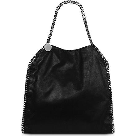 STELLA MCCARTNEY Falabella faux-suede tote (Black