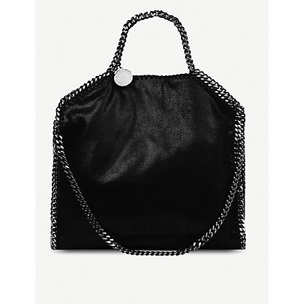 STELLA MCCARTNEY Falabella medium faux-suede tote (Black
