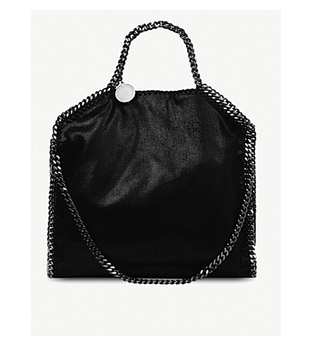 STELLA MCCARTNEY Falabella medium faux-suede shoulder bag (Black
