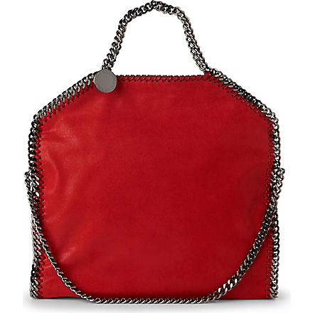 STELLA MCCARTNEY Falabella medium faux-suede tote (Cherry