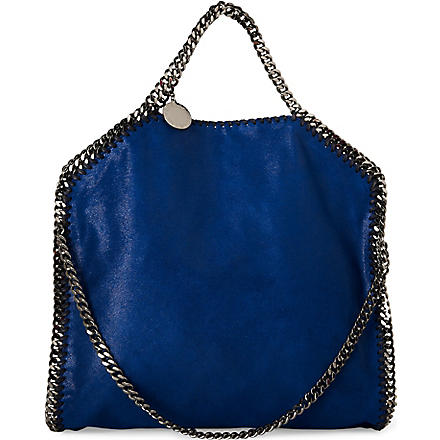 STELLA MCCARTNEY Falabella medium faux-suede tote (Cornflower