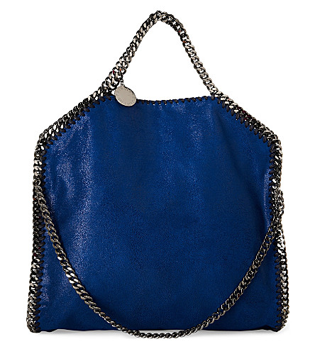 STELLA MCCARTNEY Falabella medium faux-suede shoulder bag (Cornflower