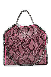 STELLA MCCARTNEY Falabella python-print shoulder bag