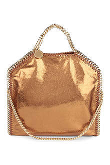STELLA MCCARTNEY fallabella large metallic shoulder bag