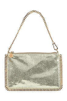 STELLA MCCARTNEY Falabella metallic clutch