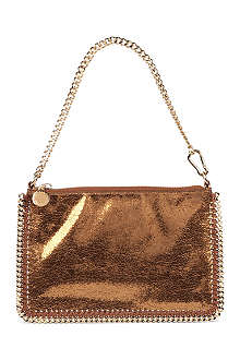 STELLA MCCARTNEY Falabella zip clutch bag