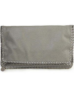 STELLA MCCARTNEY Falabella faux-suede clutch