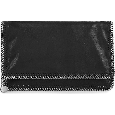 STELLA MCCARTNEY Falabella faux-suede clutch (Navy