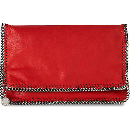 STELLA MCCARTNEY Falabella across-body clutch (Cherry