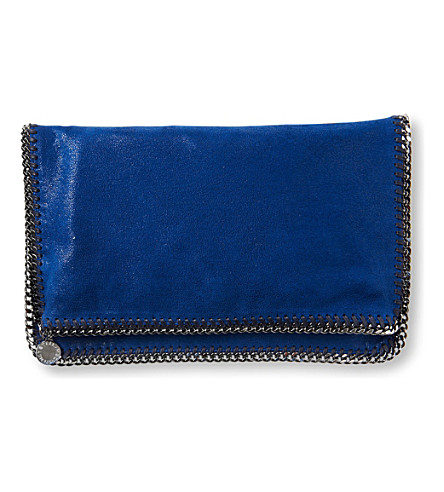 STELLA MCCARTNEY Falabella across-body clutch (Cornflower